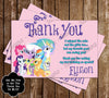 Friendship My Little Pony Birthday Party Ticket Invitation