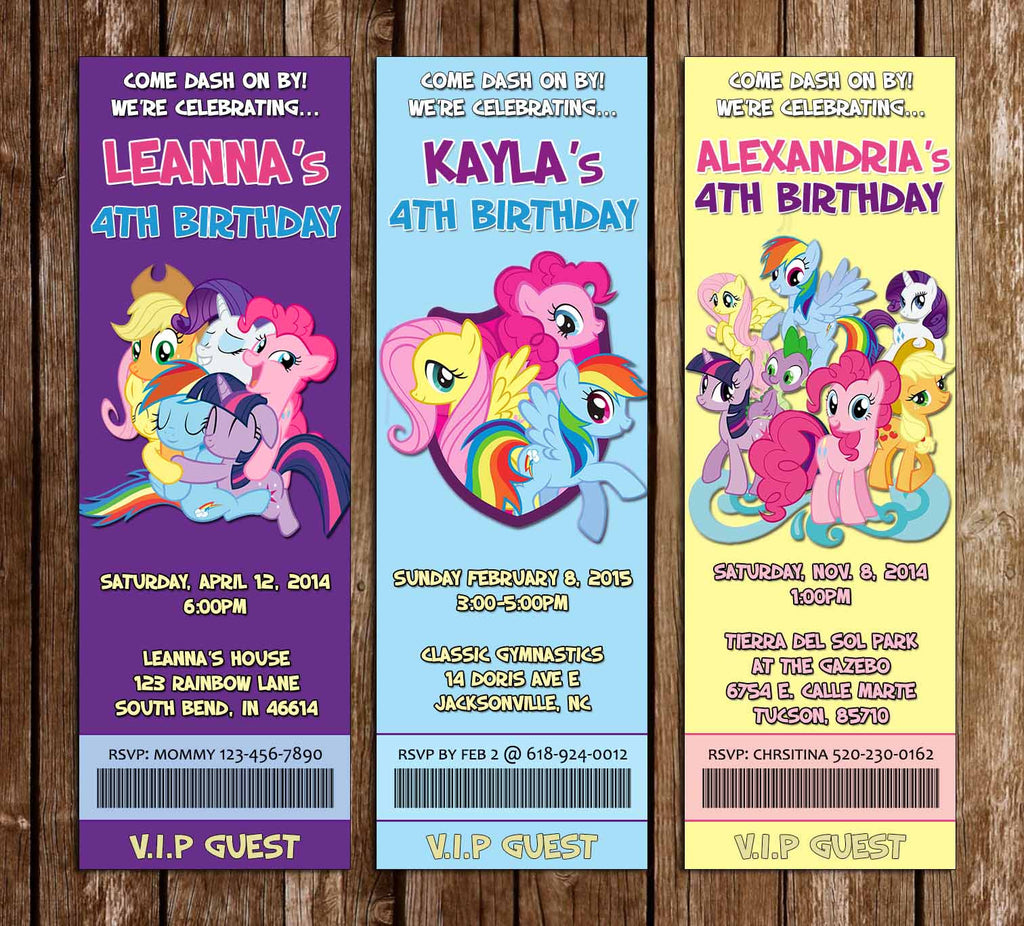 Novel Concept Designs Friendship My Little Pony Birthday Party