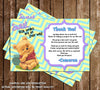 Winnie the Pooh Baby Shower Thank You Card