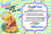 Winnie the Pooh Neutral Baby Shower Thank You Card