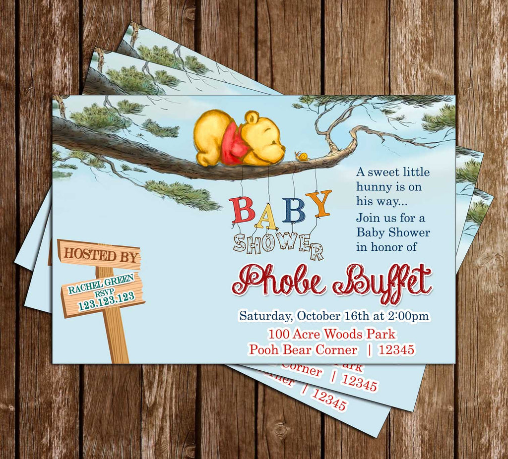 Novel Concept Designs - Winnie the Pooh - Tree - Baby Shower ...