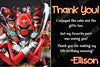 Power Rangers Show Birthday Thank You Card