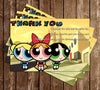Powerpuff Girls Thank You Card
