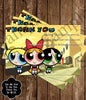 Powerpuff Girls Show Birthday Party Ticket Invitations