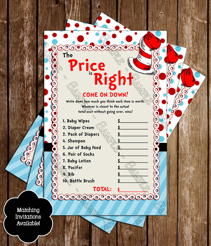 Novel Concept Designs - Dr Seuss - Cat in the Hat - Price is Right ...