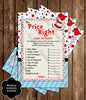 Dr Seuss - Cat in the Hat - One Fish, Two Fish Guessing - Baby Shower Game