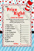 Dr Seuss - Cat in the Hat - Price is Right - Baby Shower Game