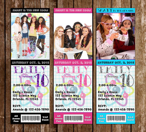 Project Mc2 - Birthday Party TIcket - Invitations