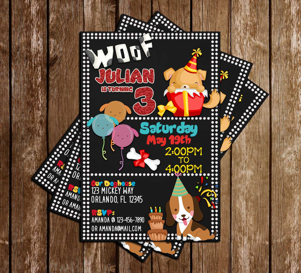 Novel Concept Designs - Puppies- Dog - Polka Dots - Birthday Party ...