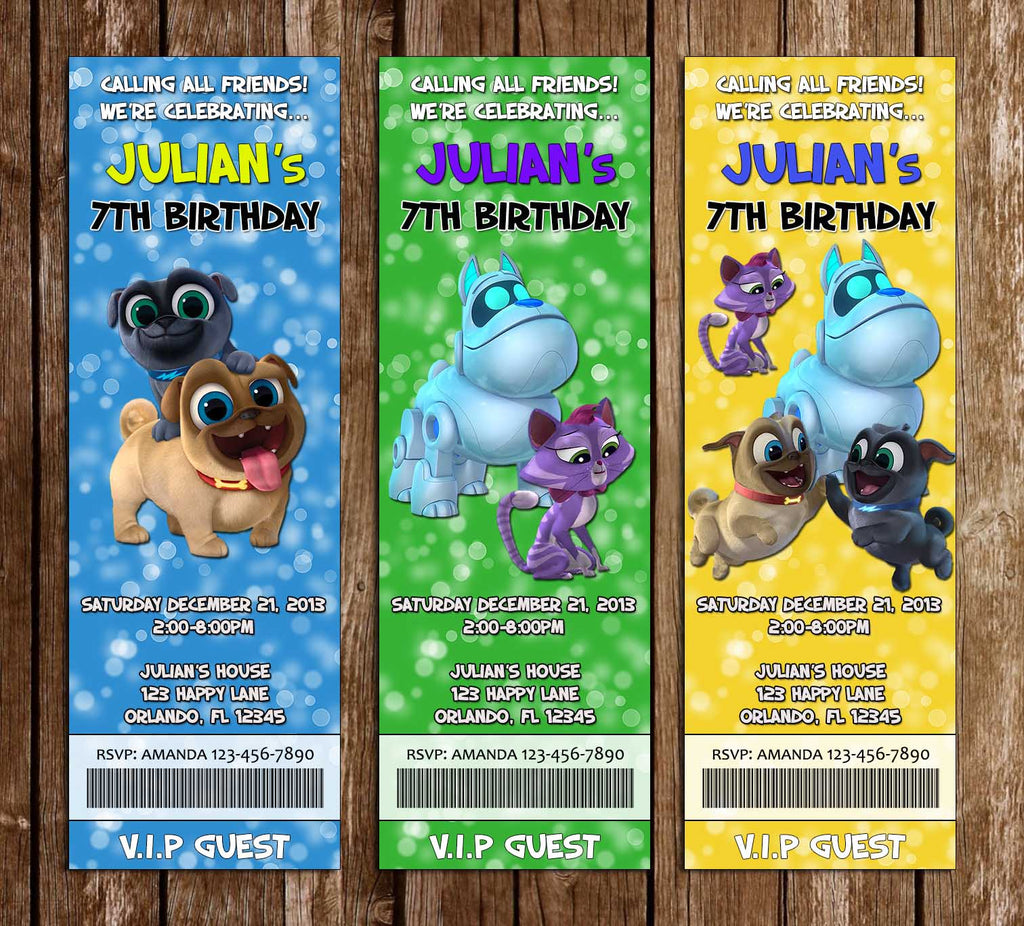 Puppy Dog Pals - Ticket - Birthday Party - Invitations