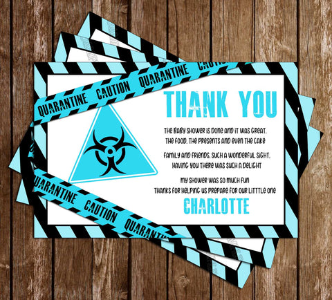 Quarantine - Blue - Baby - Shower - Thank You