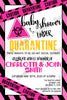 Quarantine - Pink - Baby - Shower - Invitation