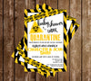 Quarantine - Yellow - Baby Shower - Invitation