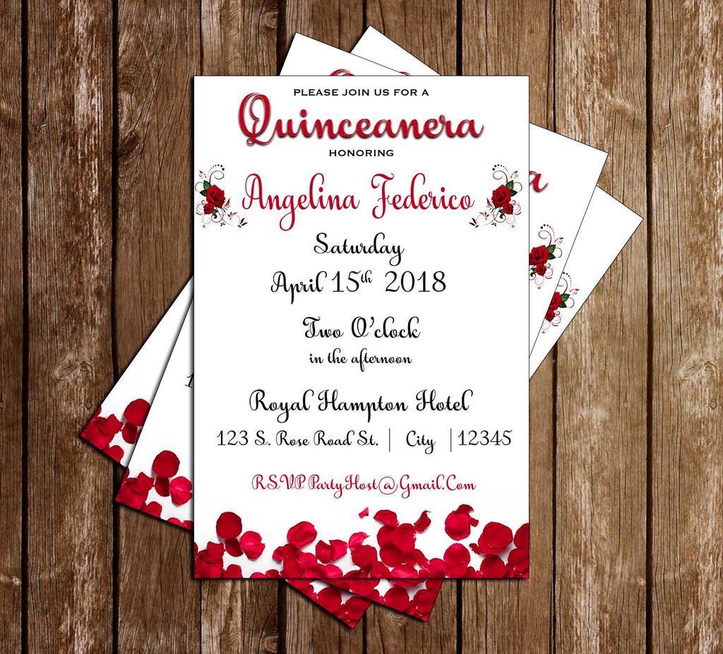 Novel Concept Designs Red Roses Quinceanera