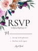 Vintage Purple Brown Rustic Flowers - Wedding Invitation Set
