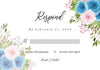 Lovely Blue And Pink Roses Floral - Wedding Invitation Set