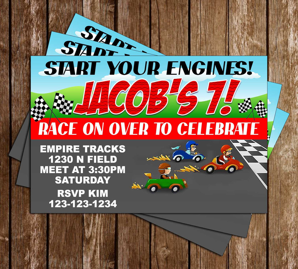 Novel Concept Designs - Start Your Engines! - Race Car - Birthday ...