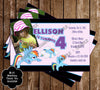 Rainbow Dash Birthday Party Ticket Invitation