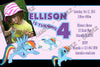 My Little Pony Rainbow Dash Birthday Party Invitation