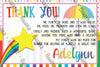 Rainbows - Vibrant Colors - Birthday Party - Thank You Card