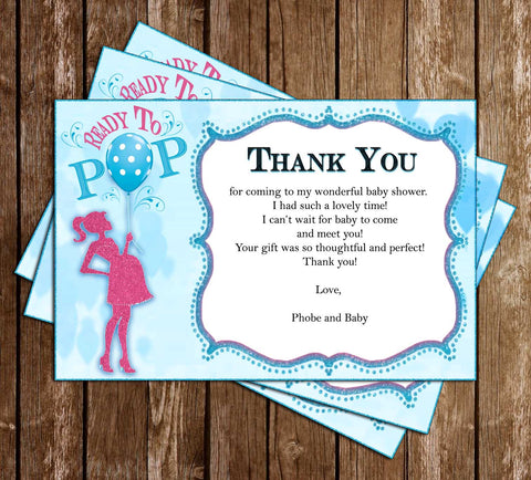 Ready to POP! - Baby Shower - Thank You Card