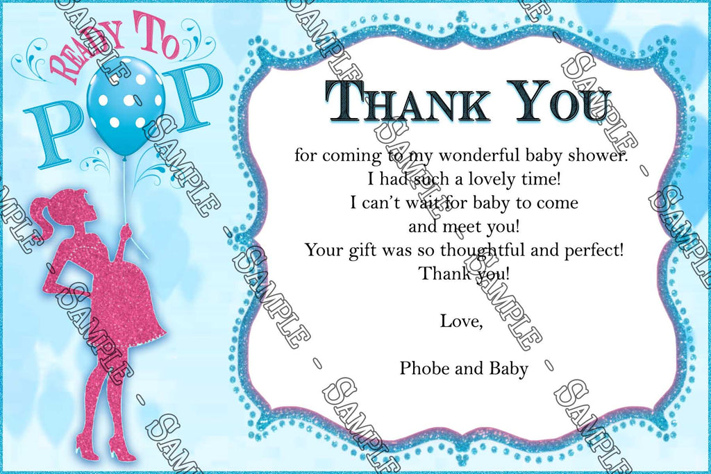 Novel Concept Designs - Ready to POP! - Baby Shower - Invitation