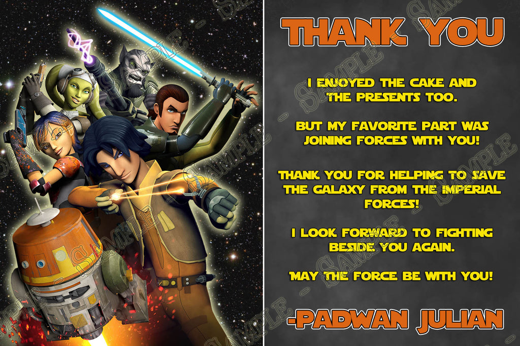 Novel Concept Designs - Star Wars Rebels Birthday Party Invitation ...