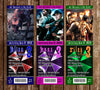 Resident Evil Game Birthday Party Ticket Invitations
