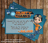Rusty Rivets - Birthday Party - Thank You Card