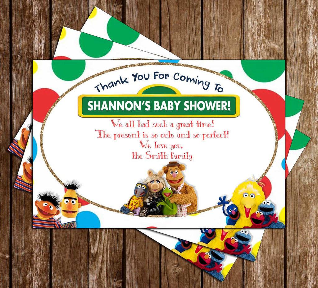 Sesame Street   Baby Shower   Party   Thank You Card