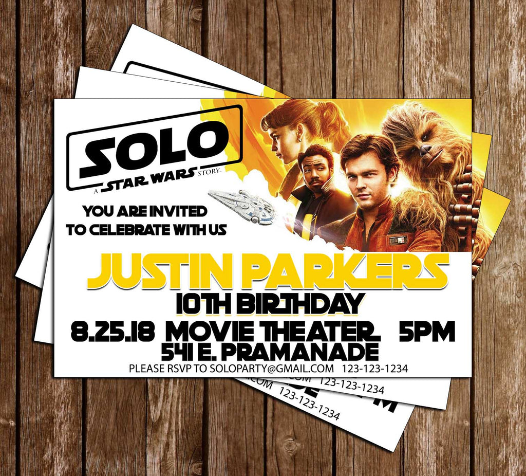 Novel Concept Designs - Solo - Star Wars Movie - Birthday Party ...
