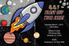 Space - Spaceship - Planets - Birthday Party - Invitation