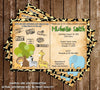 Safari Passport - Baby Animals - Zoo - Baby Shower Invitation
