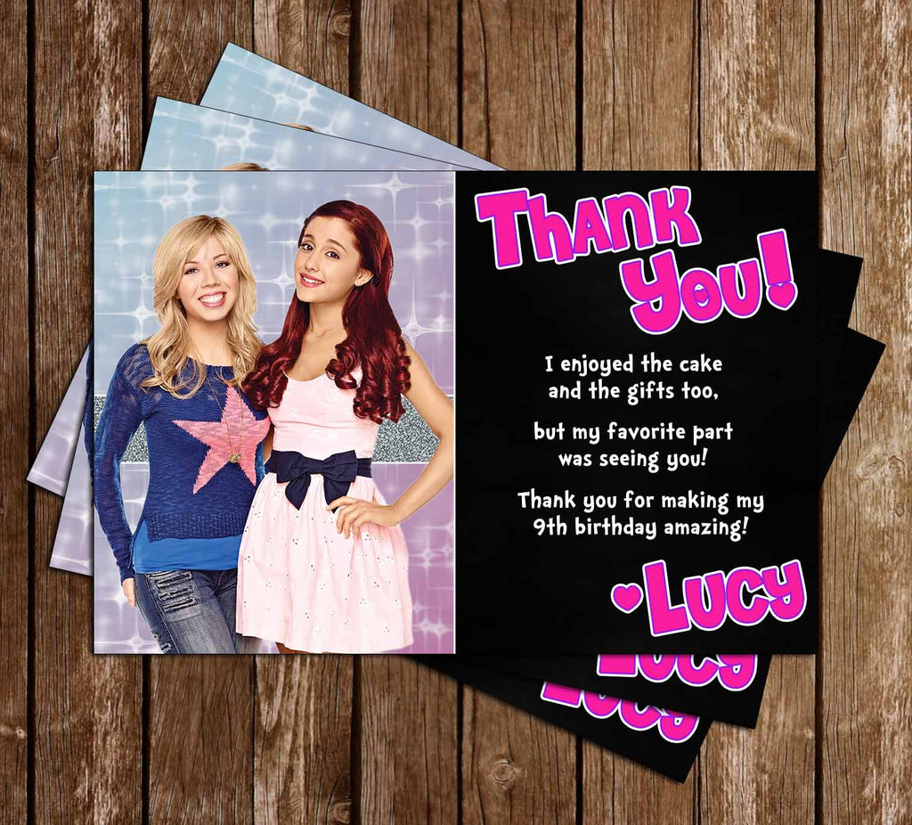 Sam and Cat Show Birthday Thank You Card