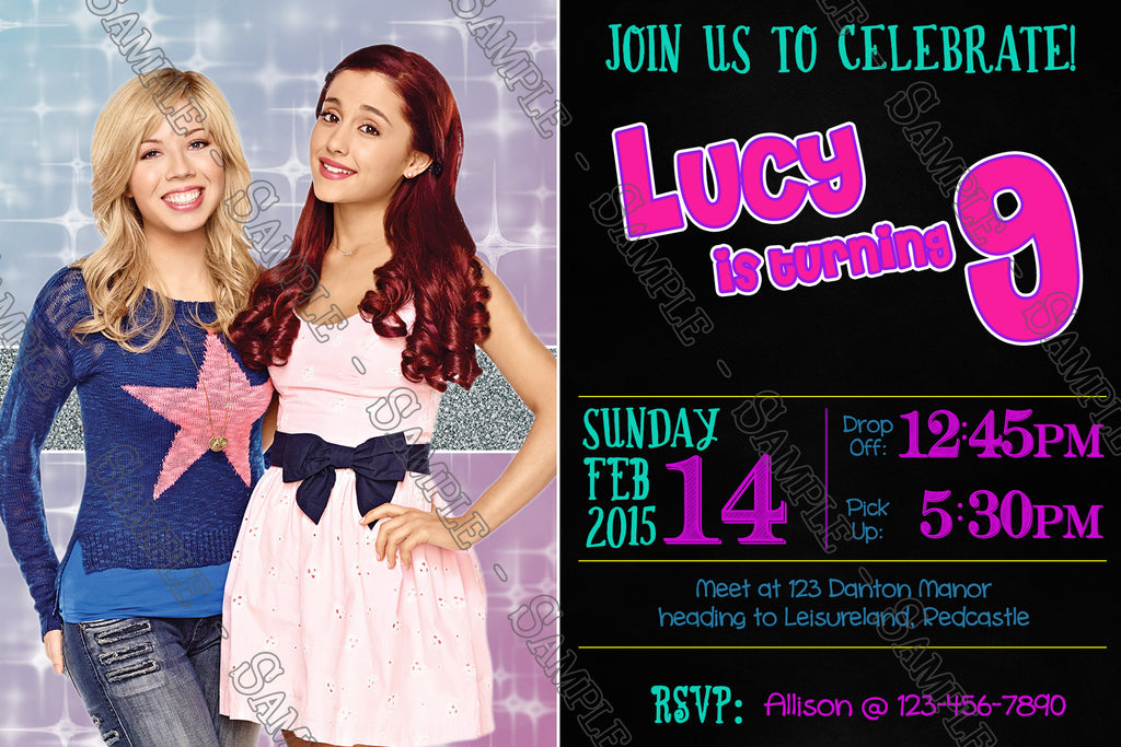 Novel Concept Designs - Sam and Cat Show Birthday Party Invitation