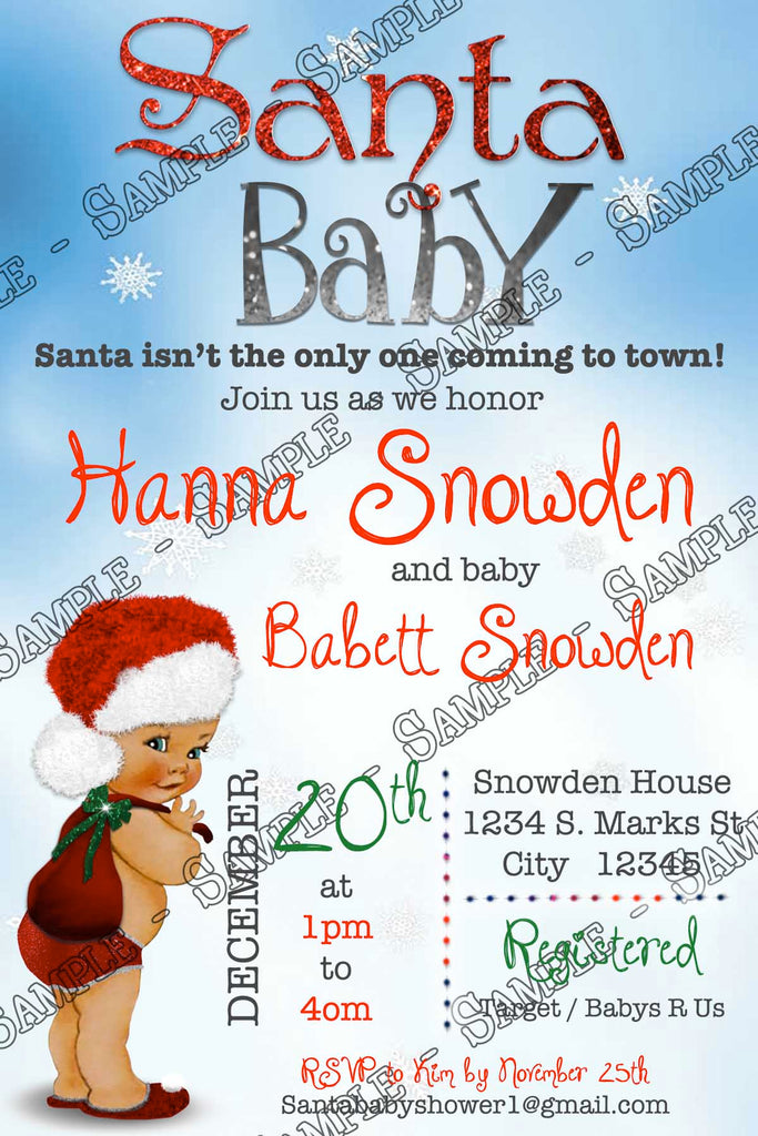 novel concept designs - santa baby - baby shower