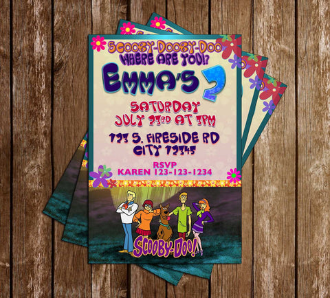 Scooby Doo - TV Show - Birthday Party - Invitation