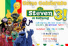 Sesame Street - Sign - Polka Dots - Birthday Party Invitation
