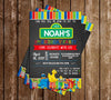 Sesame Street - Chalkboard - Characters - Birthday Party - Invitation