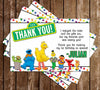 PBS Sesame Street Characters Birthday Party Thank You Card