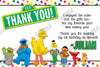 PBS Sesame Street Characters Birthday Party Photo Invitation