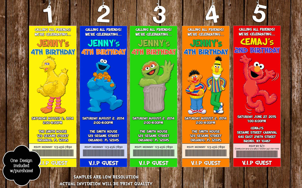 Novel Concept Designs Sesame Street Characters Birthday Party – Sesame Street Party Invitations