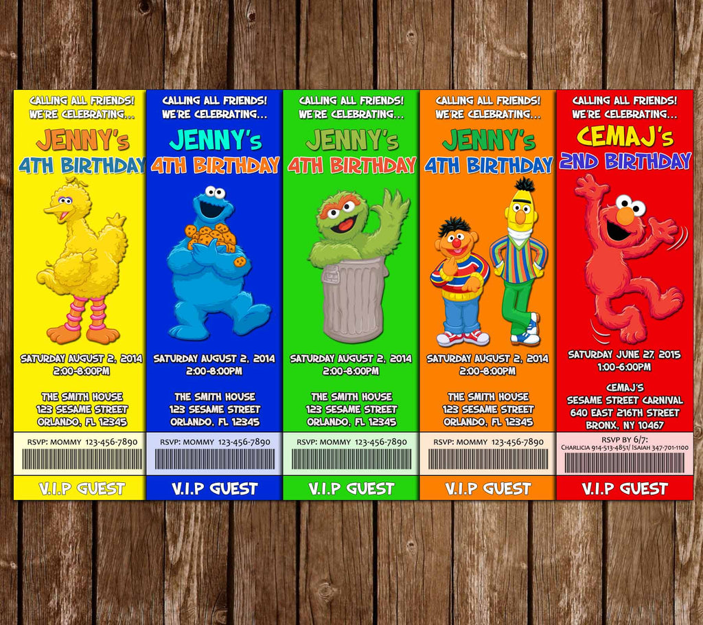 Novel Concept Designs - Sesame Street Characters Birthday Party ...