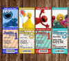 Sesame Street Birthday Party Ticket Invitation