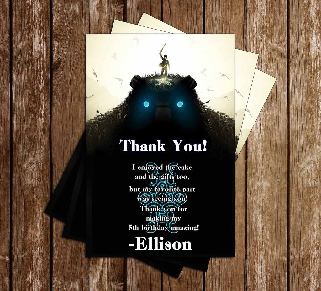 Shadow of the Colossus Classic Game Birthday Thank You Card