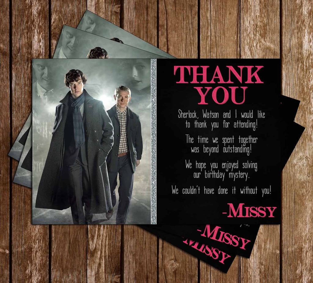 Sherlock Holmes Birthday Thank You Card (BBC)
