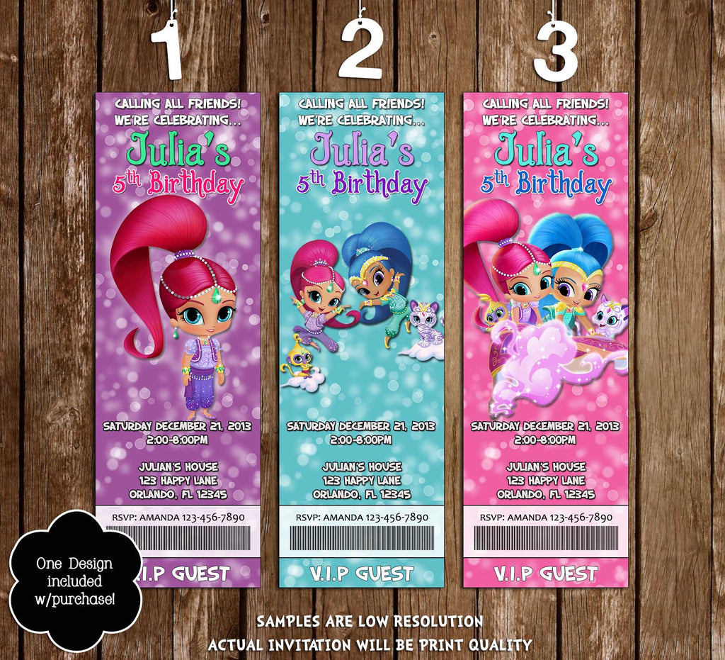 Novel Concept Designs Shimmer And Shine Birthday Party Thank You