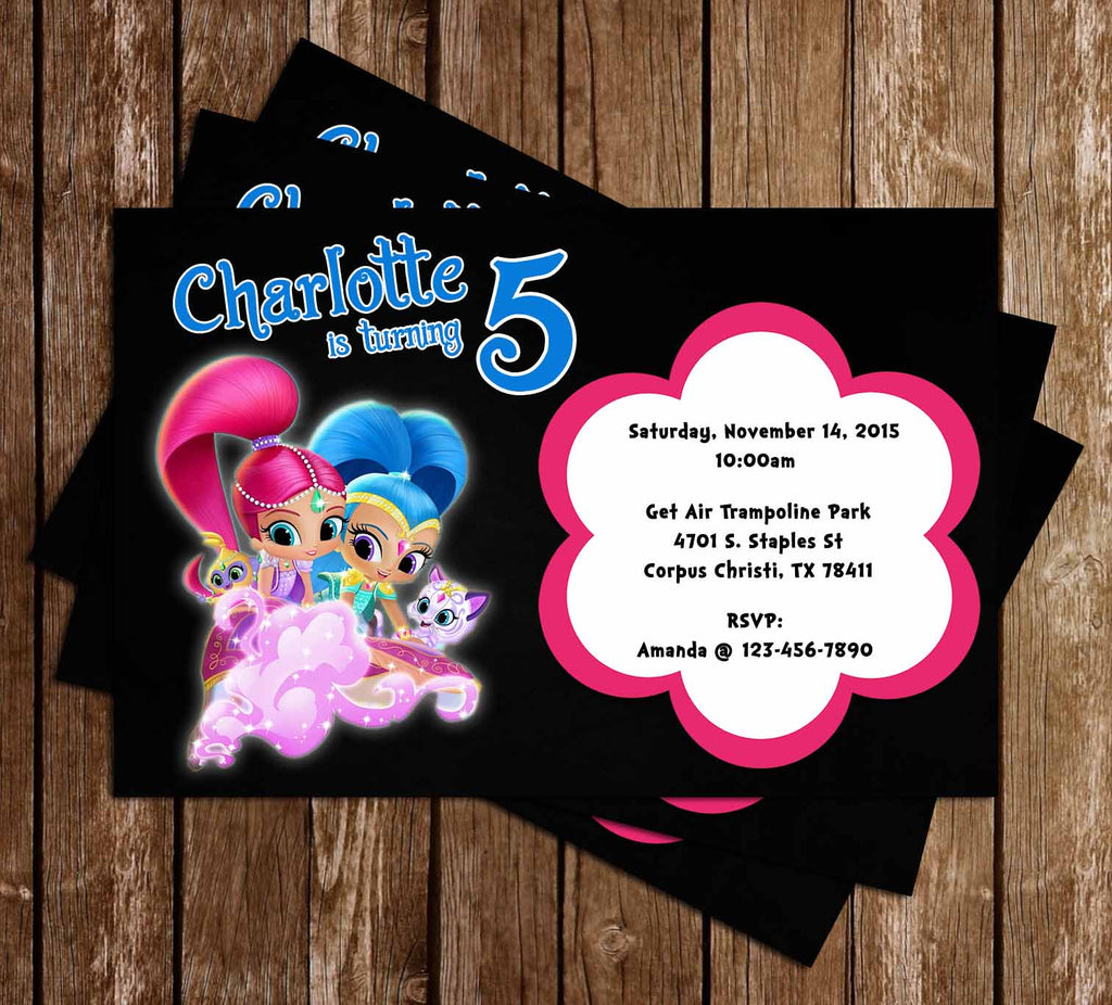 Nick Jr - Shimmer and Shine - Birthday Party Invitation