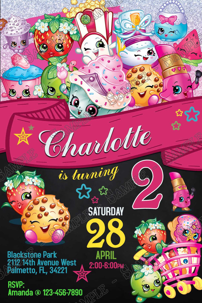 Novel Concept Designs Shopkins Chalkboard Birthday Party