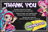 Shopkins - Shoppies Dolls - Birthday Party - Thank You Card